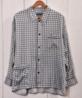 古着Multi Pattern Pajamas Shirt |総柄パジャマシャツ | ブルー系 | ホワイト系 古着のネット通販 古着屋グレープフルーツムーン