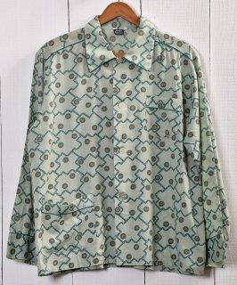 古着Multi Pattern Pajamas Shirt |総柄パジャマシャツ | グリーン系 古着のネット通販 古着屋グレープフルーツムーン