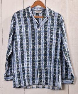 古着Multi Pattern Pajamas Shirt |総柄パジャマシャツ | ブルー系 古着のネット通販 古着屋グレープフルーツムーン