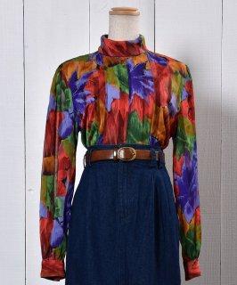 古着Stand Collar Long Sleeve Shirt|スタンドカラー 長袖シャツ 古着のネット通販 古着屋グレープフルーツムーン