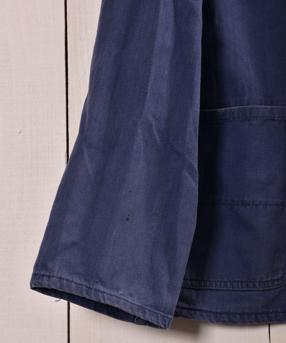 Made in Germany Herringbone Work Jacket | ドイツ製 ヘリンボーン ワークジャケット | ユーロワークサムネイル