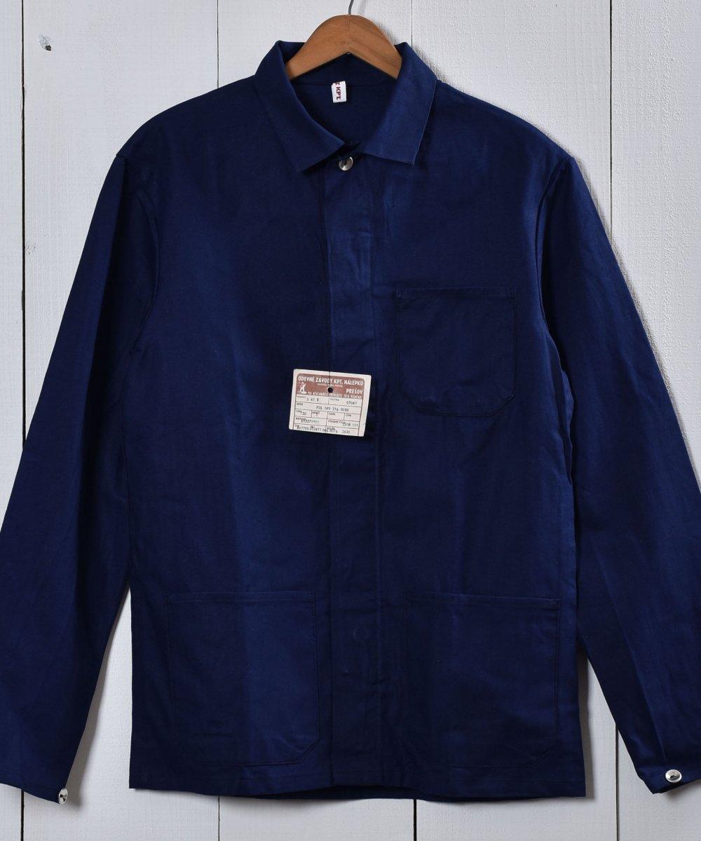 古着 Made in Europe Herringbone Deadstock Work Jacket   ヨーロッパ製 ヘリンボーン デッドストック ワークジャケット   ヨーロッパワーク 古着 ネット 通販 古着屋グレープフルーツムーン