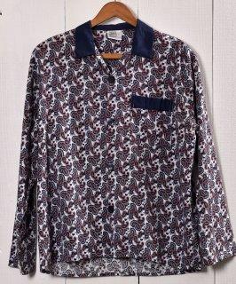 古着European Paisley Pattern Pajamas Shirt| ペイズリー総柄 パジャマシャツ 古着のネット通販 古着屋グレープフルーツムーン