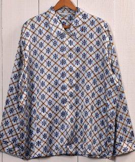 古着Multi Pattern Pajamas Shirt | 総柄 パジャマシャツ | ブルー系 |Made in Germany 古着のネット通販 古着屋グレープフルーツムーン