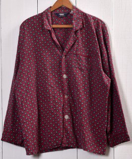 古着Paisley Pattern Pajamas Shirt |ペイズリー柄パジャマシャツ | レッド系 古着のネット通販 古着屋グレープフルーツムーン