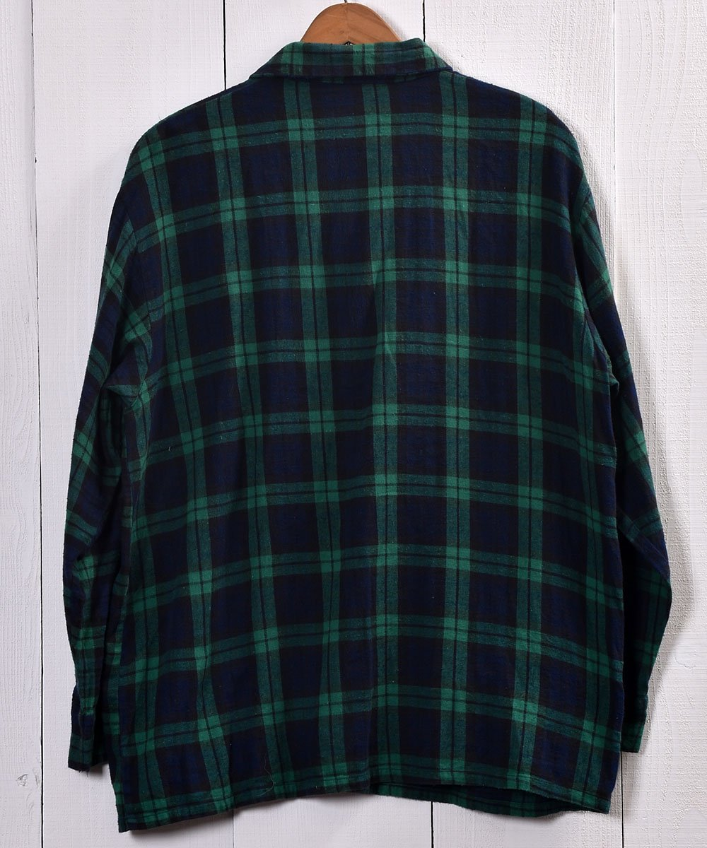 TOWN CRAFT Check Pattern Pajamas Shirt |タウンクラフト チェック柄パジャマシャツ | グリーン系サムネイル