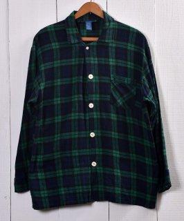 古着TOWN CRAFT Check Pattern Pajamas Shirt |タウンクラフト チェック柄パジャマシャツ | グリーン系 古着のネット通販 古着屋グレープフルーツムーン