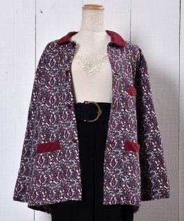 古着Wine Paisry Pattern Pajamas Shirt|ペーズリー柄パジャマシャツ ワイン系   古着のネット通販 古着屋グレープフルーツムーン