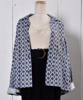 古着Small Pattern Pajamas Shirt|小紋柄パジャマシャツ  古着のネット通販 古着屋グレープフルーツムーン