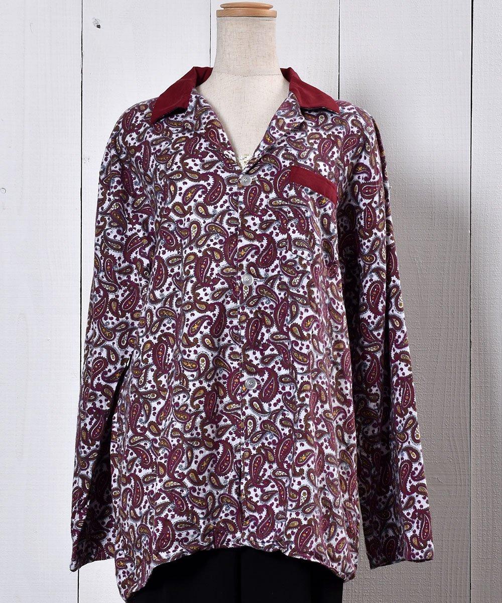 Paisry Pattern Pajamas Shirt ペイズリー柄 フランネルパジャマシャツ サムネイル
