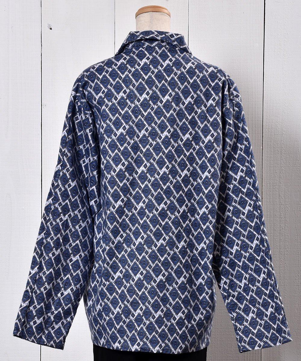 Made in UK Small Pattern Pajamas Shirt イギリス製 小紋柄パジャマシャツ サムネイル