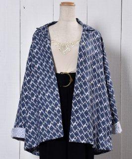 古着Made in UK Small Pattern Pajamas Shirt|イギリス製 小紋柄パジャマシャツ  古着のネット通販 古着屋グレープフルーツムーン