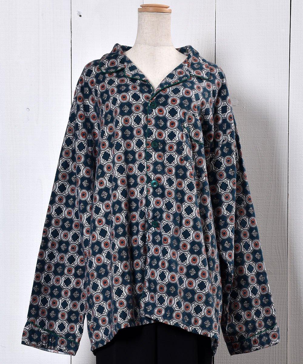 Multi Pattern Pajamas Shirt 総柄パジャマシャツ グリーン系  サムネイル