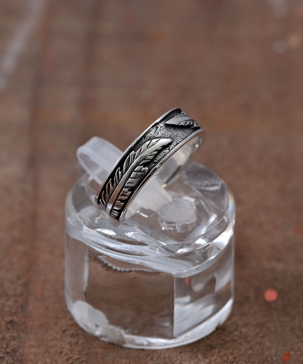Silver Ring Feather Pattern | フェザーパターン シルバーリングサムネイル