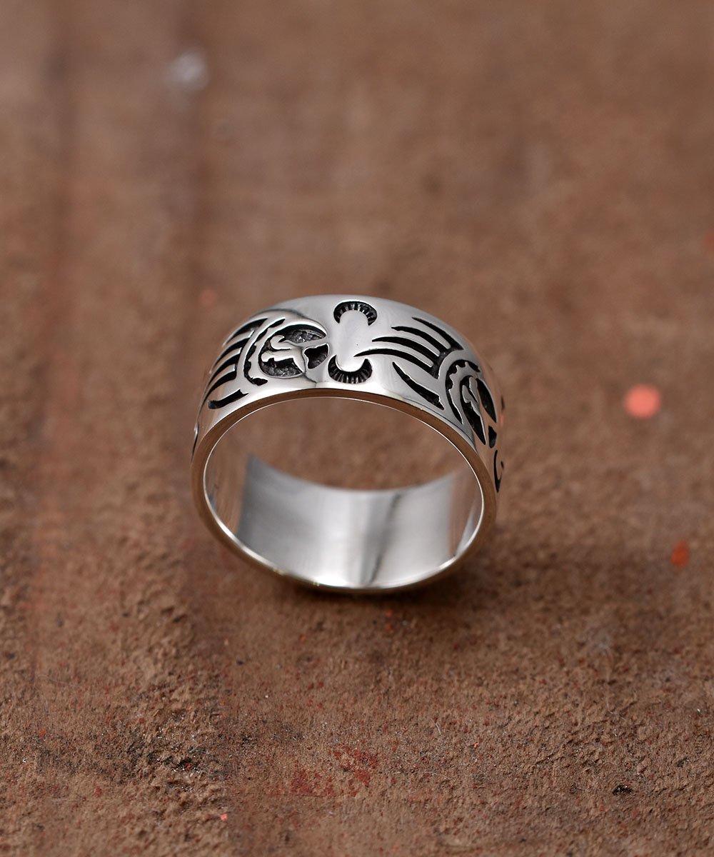 古着 Silver Ring Bearhand Pattern | 「ベアハンド」モチーフ シルバーリング 古着 ネット 通販 古着屋グレープフルーツムーン