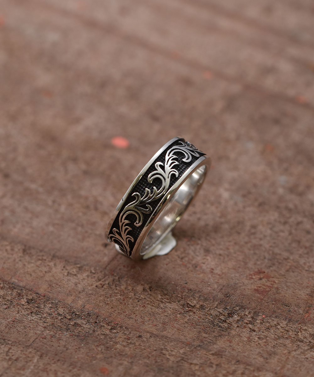 Silver Ring 7mm Arabesque | 唐草模様モチーフ 7mmシルバーリングサムネイル