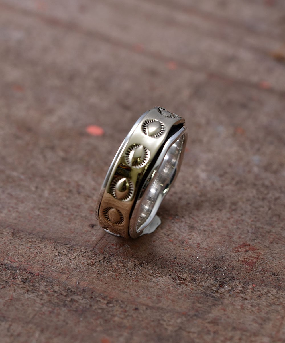 Silver Ring Pasting Brass | シルバー&真鍮 ネイティブデザイン リングサムネイル