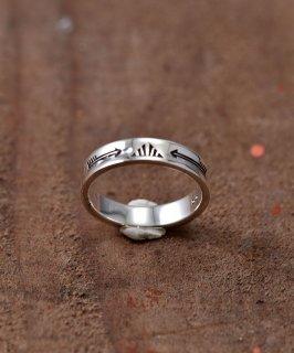 古着Silver Ring Arrow & Fence Stamp | ネイティブアメリカン シンボル モチーフ シルバーリング 古着のネット通販 古着屋グレープフルーツムーン