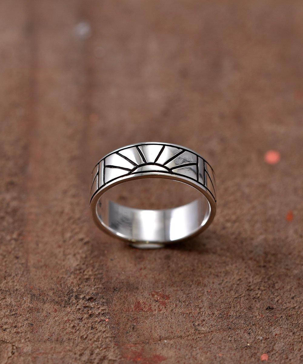 古着 Silver Ring Sunrise |  サンライズ モチーフ シルバーリング 古着 ネット 通販 古着屋グレープフルーツムーン