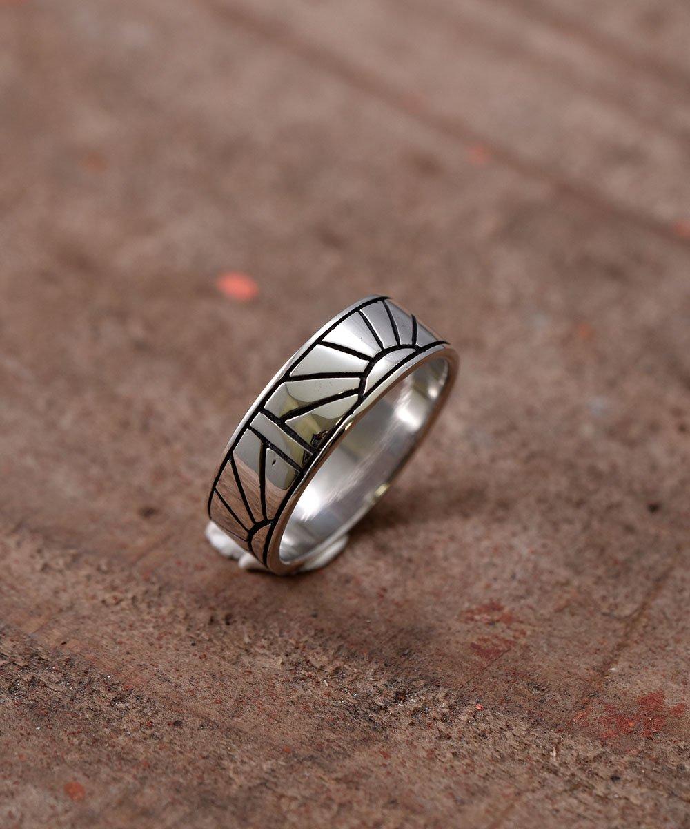 Silver Ring Sunrise |  サンライズ モチーフ シルバーリングサムネイル
