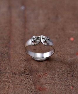 古着Silver Ring Two Face | 「2フェイス」モチーフシルバーリング 古着のネット通販 古着屋グレープフルーツムーン