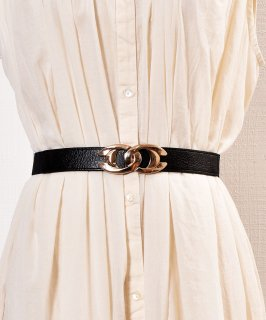 古着Cross Ring Gom Belt| クロスリングバックル ゴムベルト 古着のネット通販 古着屋グレープフルーツムーン