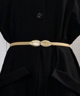 古着Leaf Motif Belt| リーフモチーフ ゴムベルト ベージュ 古着のネット通販 古着屋グレープフルーツムーン