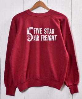 """古着Made in USA """"West""""  Print Sweat アメリカ製 「FIVE STAR AIR FREIGHT」プリントスウェット  古着のネット通販 古着屋グレープフルーツムーン"""