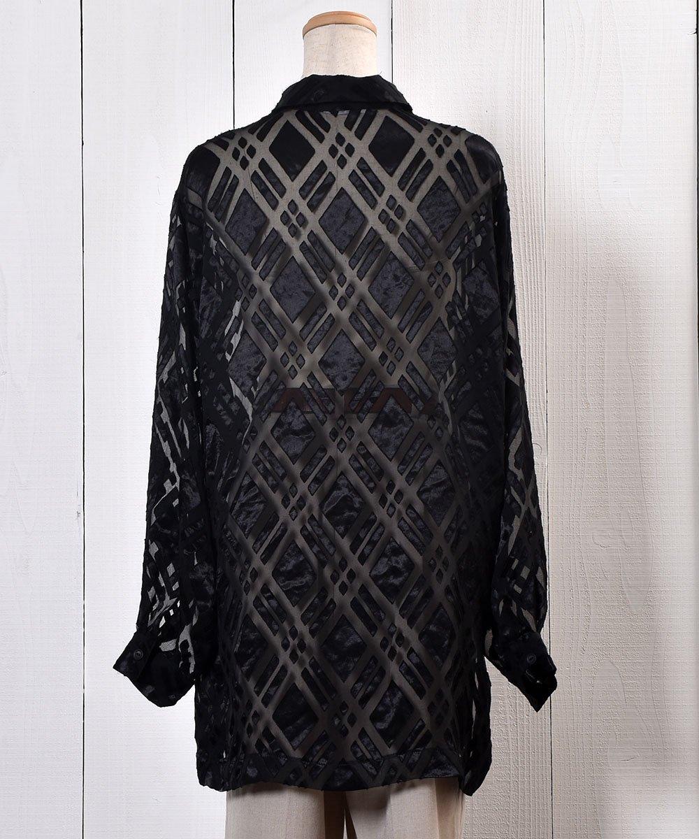 Check Pattern Sheer Shirt|チェック柄シアーシャツサムネイル
