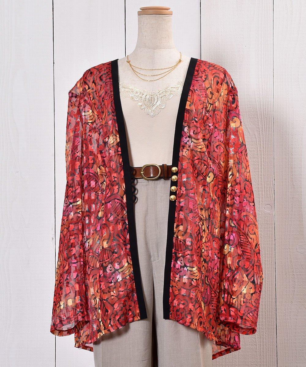 古着 Oriental Pattern Sheer Shirt|オリエンタル柄シアーシャツ 古着 ネット 通販 古着屋グレープフルーツムーン