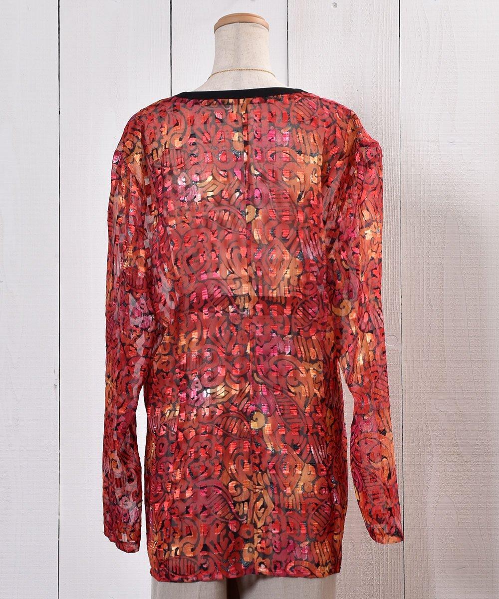 Oriental Pattern Sheer Shirt|オリエンタル柄シアーシャツサムネイル