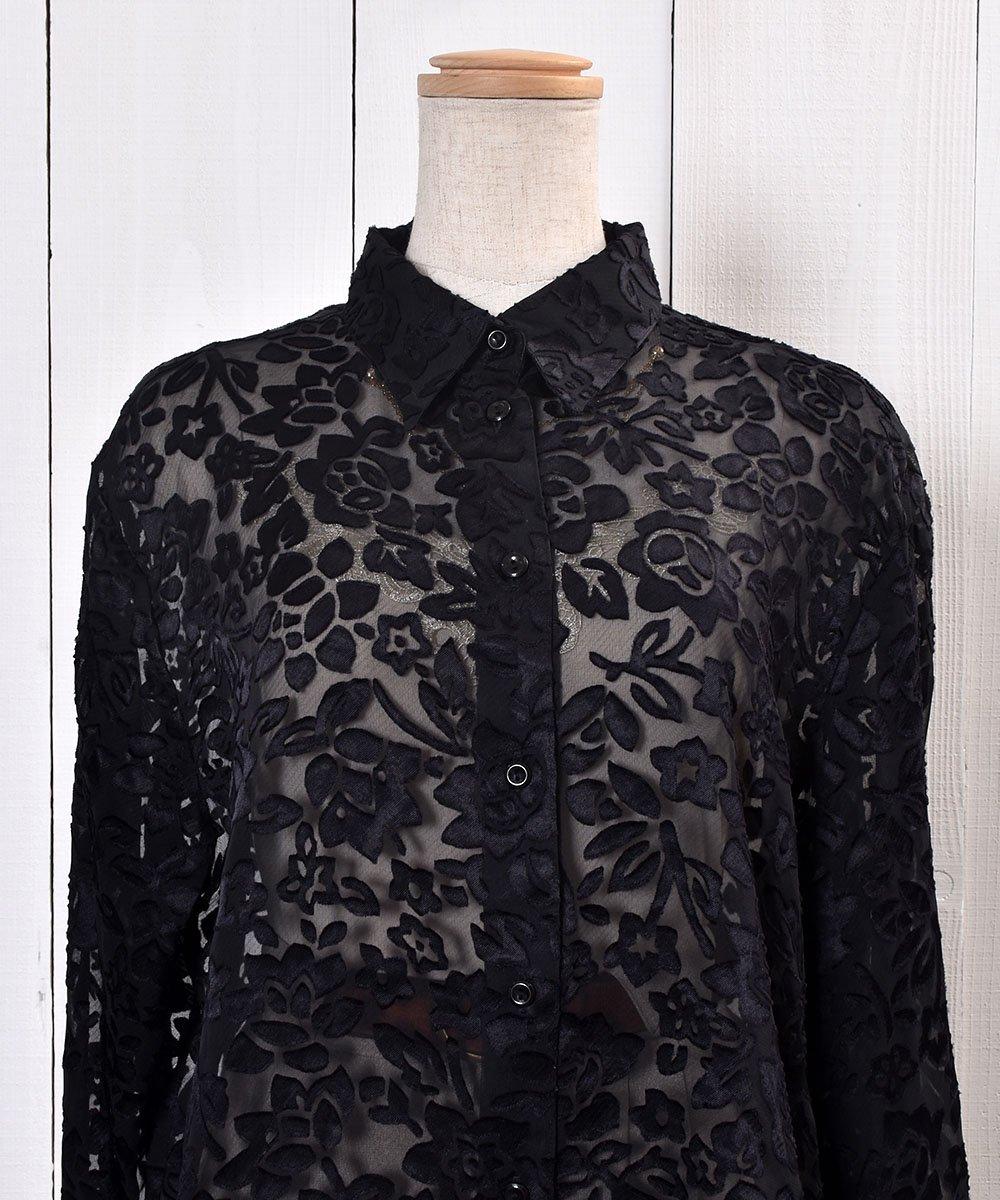 Flower Pattern Sheer Shirt|花柄シアーシャツサムネイル