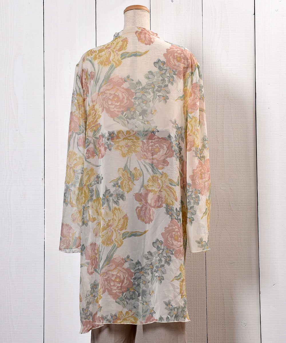 Flower Pattern Sheer Gown 花柄シアーガウン サムネイル