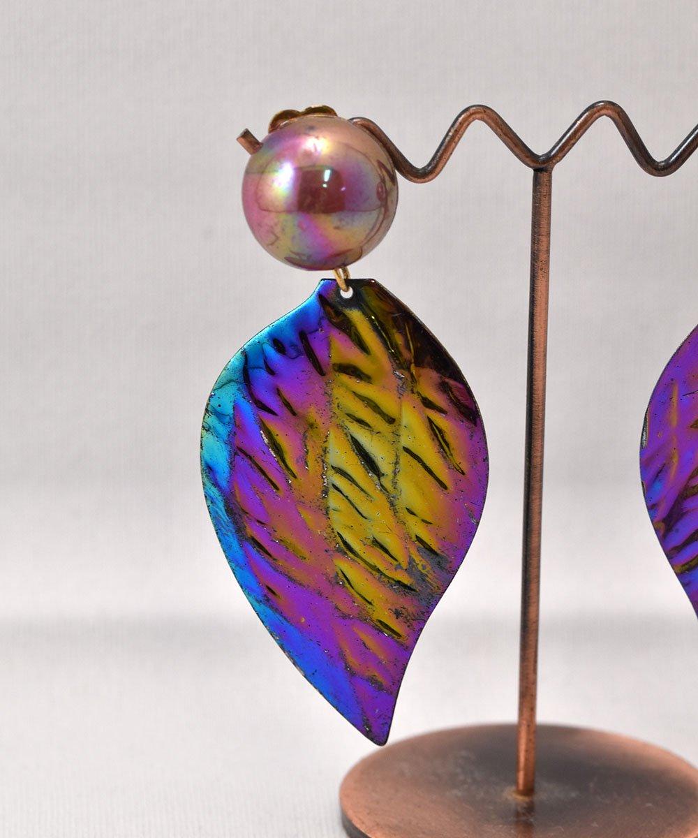 Made in Europe Leaf Earring | ヨーロッパ製 葉っぱモチーフ イヤリング サムネイル