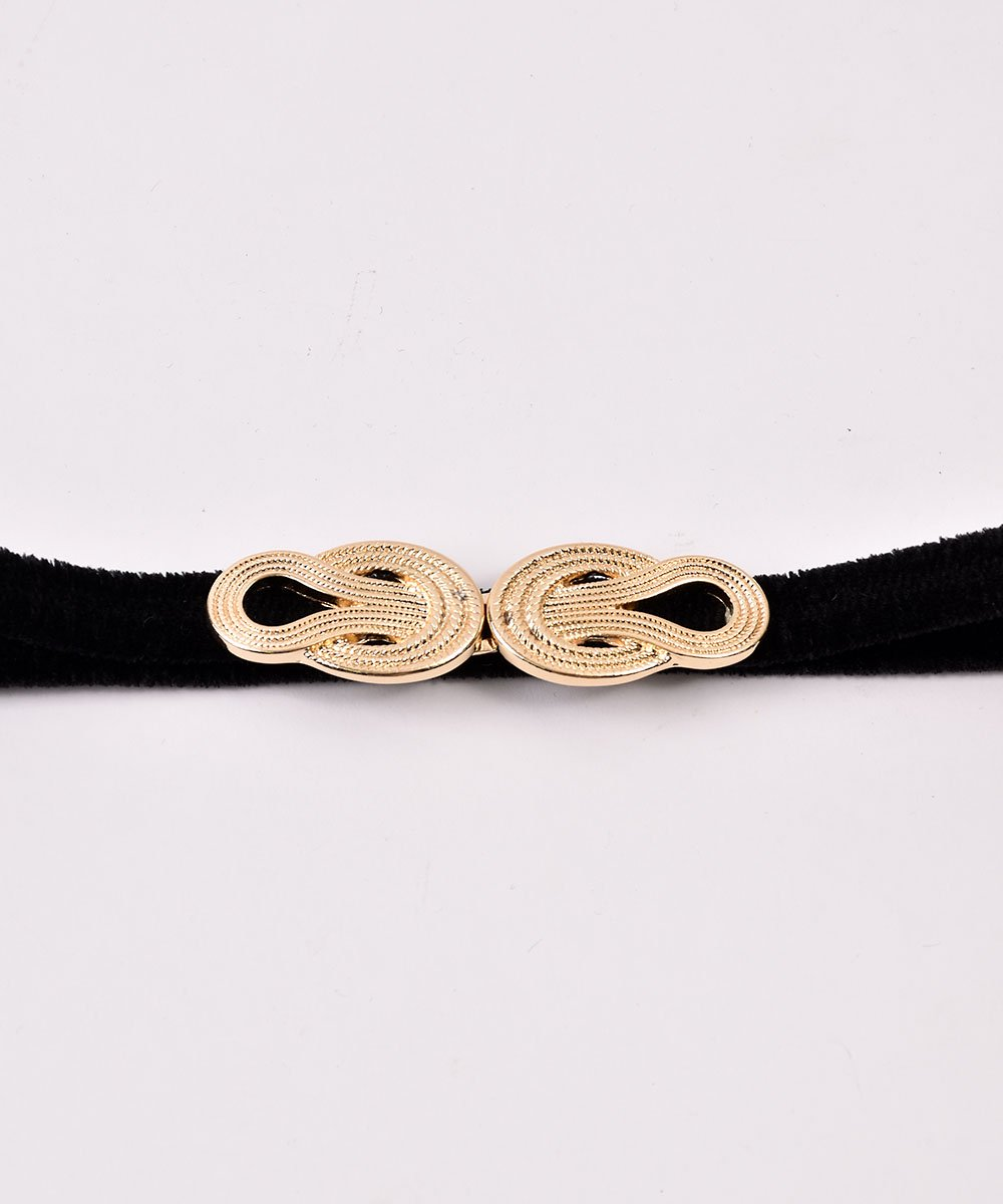 【3Color Available】 Velour Rope Belt| ベロアロープベルト  ブラックサムネイル