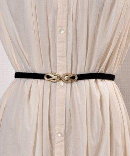 古着【3Color Available】 Velour Rope Belt| ベロアロープベルト  ブラック 古着のネット通販 古着屋グレープフルーツムーン