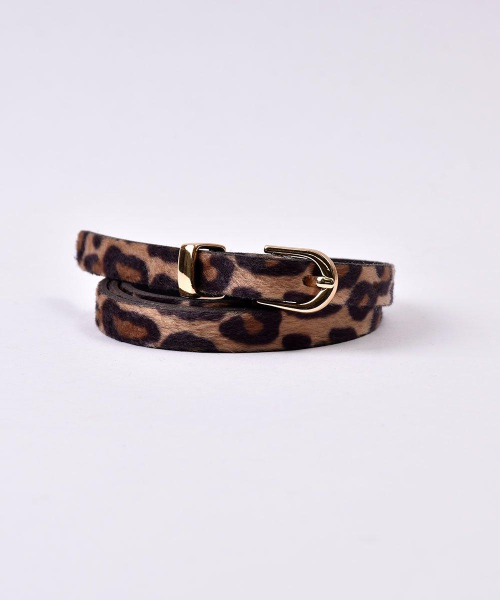 Harako Leopard Pattern Belt|ハラコ風 レオパード柄ベルトサムネイル