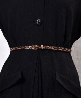 古着Harako Leopard Pattern Belt|ハラコ風 レオパード柄ベルト 古着のネット通販 古着屋グレープフルーツムーン