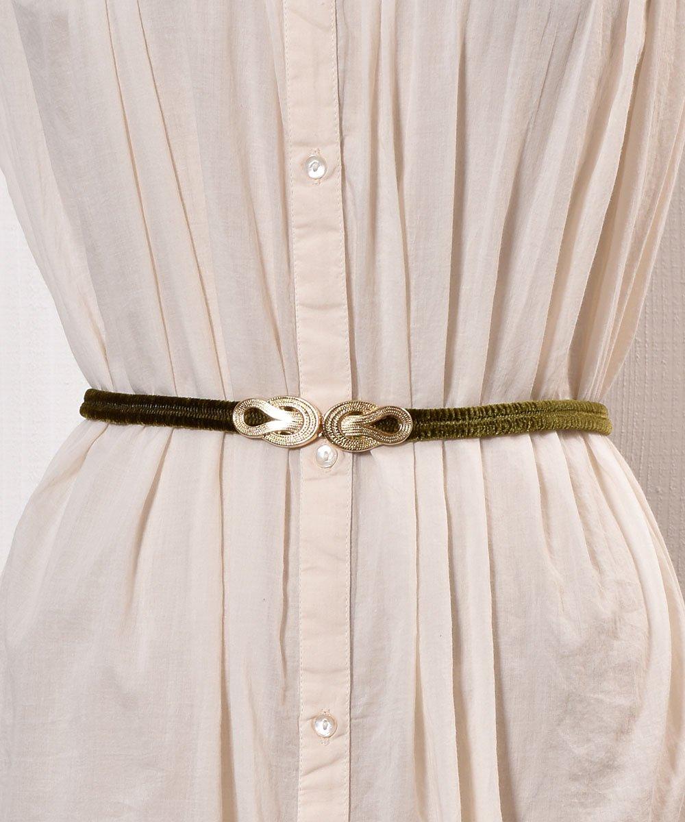 古着 【3Color Available】 Velour Rope Belt| ベロアロープベルト  オリーブ 古着 ネット 通販 古着屋グレープフルーツムーン