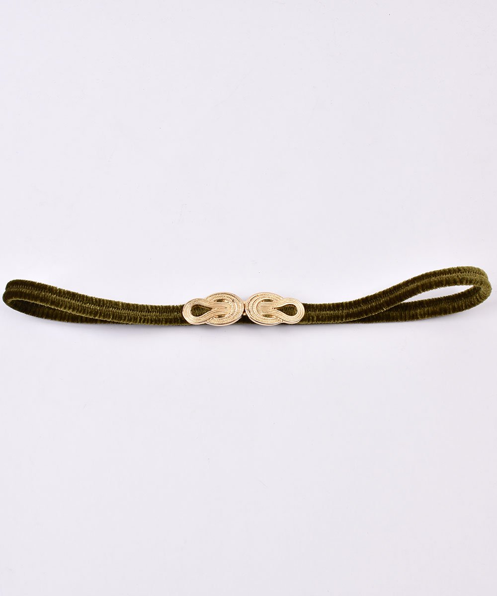 【3Color Available】 Velour Rope Belt| ベロアロープベルト  オリーブサムネイル