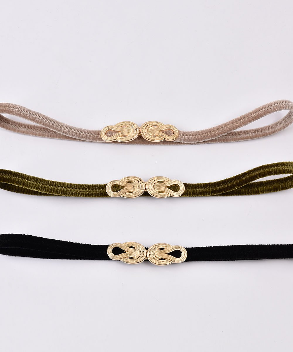 【3Color Available】 Velour Rope Belt| ベロアロープベルト  ベージュサムネイル
