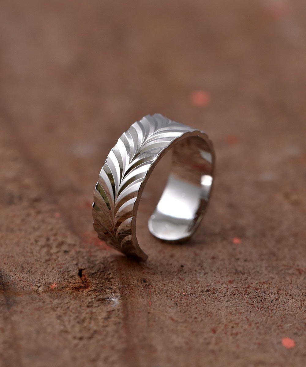 古着 Engraving Ring | 波型削りモチーフリング 古着 ネット 通販 古着屋グレープフルーツムーン