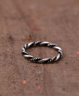 古着Silver Ring Twisted 2 Type Wire | ワイヤーツイスト シルバーリング 古着のネット通販 古着屋グレープフルーツムーン