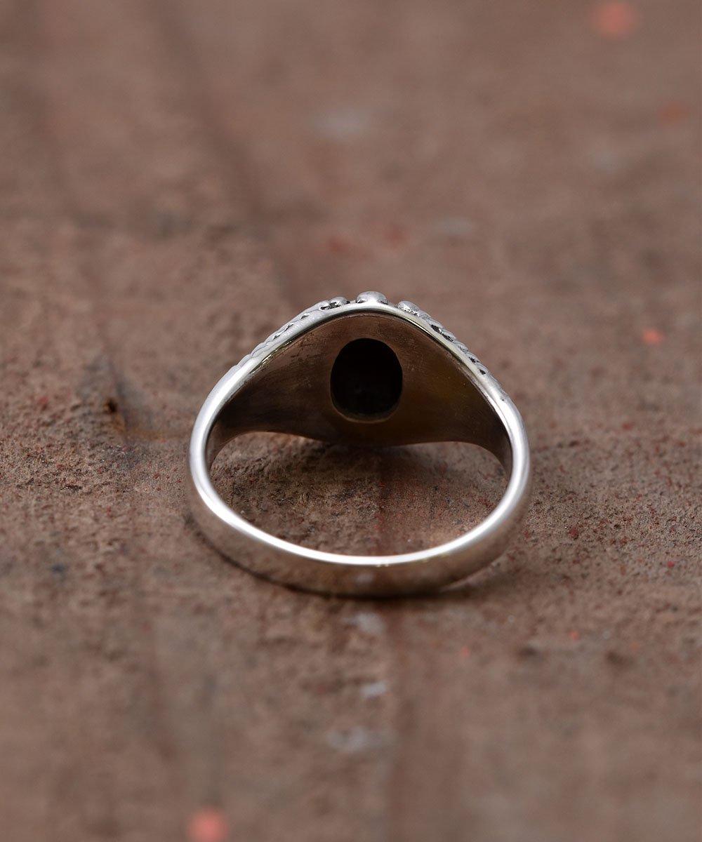 Silver Ring  Studs | スタッズ付きオニキス シルバーリングサムネイル