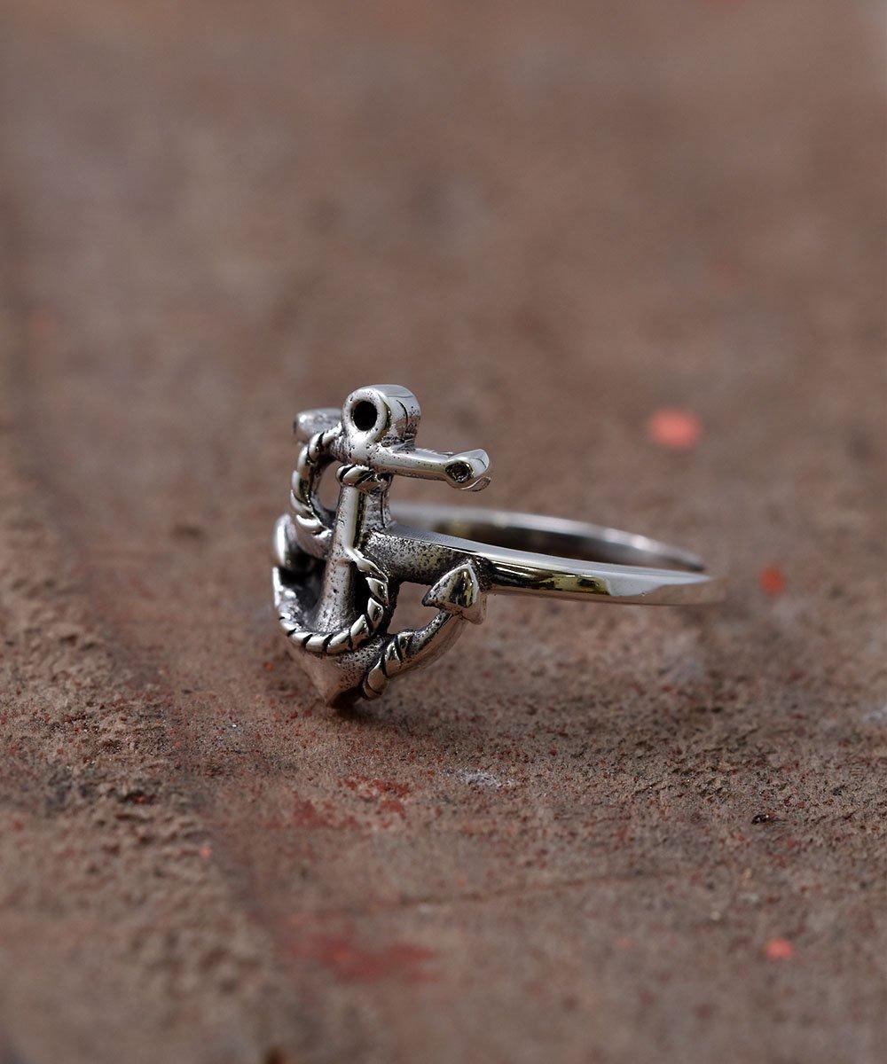 古着 Silver Ring Anchor | アンカー モチーフ シルバーリング 古着 ネット 通販 古着屋グレープフルーツムーン