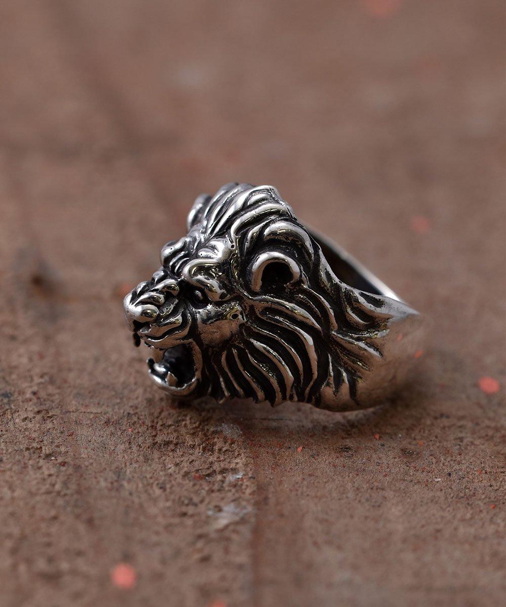 古着 Silver Ring Howling Lion   吠えるライオンモチーフ シルバーリング 古着 ネット 通販 古着屋グレープフルーツムーン