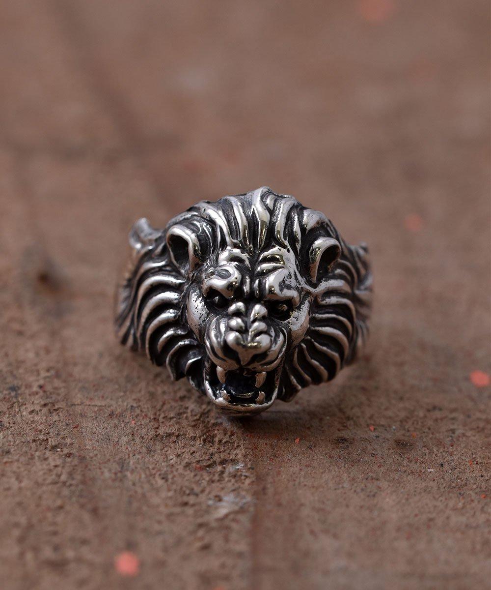 Silver Ring Howling Lion   吠えるライオンモチーフ シルバーリングサムネイル