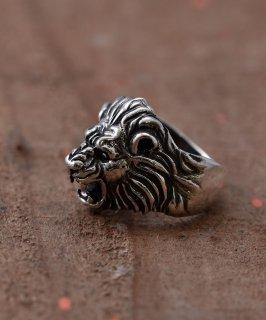 古着Silver Ring Howling Lion | 吠えるライオンモチーフ シルバーリング 古着のネット通販 古着屋グレープフルーツムーン