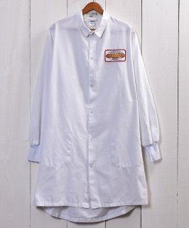 古着Snap Button Corporate Logo Work Coat|企業ロゴ入りワークコート スナップボタン仕様 ホワイト 古着のネット通販 古着屋グレープフルーツムーン