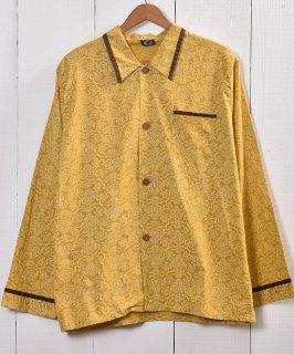 古着Made in Euro Damask Pattern Pajamas Shirt |ヨーロッパ製 ダマスク柄 パジャマシャツ  古着のネット通販 古着屋グレープフルーツムーン